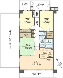 ライオンズマンション舞浜第2の間取図