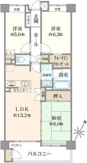 グランシティ武蔵浦和の間取図