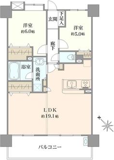ウィズ戸田公園壱番館の間取図