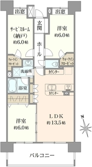 コスモ武蔵浦和サウスビューコートの間取図