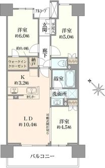 武蔵浦和SKYGARDEND棟の間取図