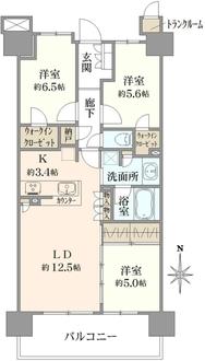 オハナ北戸田ガーデニアレジデンスA棟の間取図