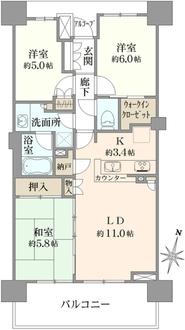 ザ・パークハウス浦和別所の間取図