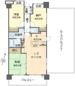 日神パレステージ中浦和ウインフォートの間取図