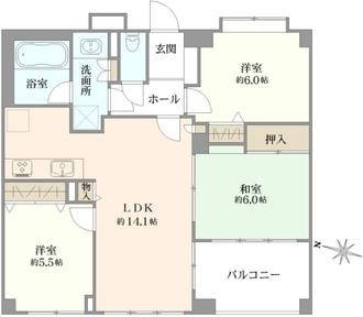 コスモ与野ガーデンシティ参番館の間取図
