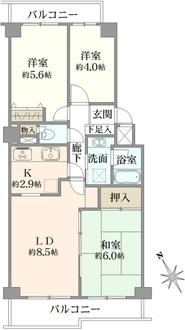 宮崎台東パーク・ホームズの間取図