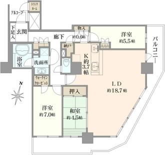 ザ ファーストタワーの間取図