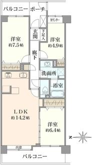 コープ野村クローバー・シティ与野弐番館の間取図