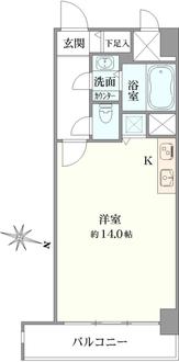 ハイマート渋谷神泉の間取図