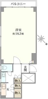 興亜第二マンションの間取図