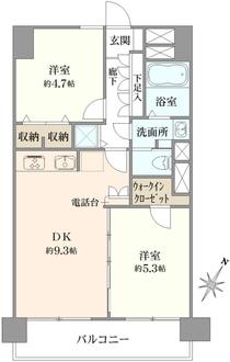 野沢サマリアマンションの間取図