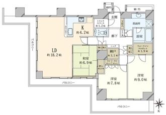 Wコンフォートタワーズ W Comfort TowersWESTの間取図