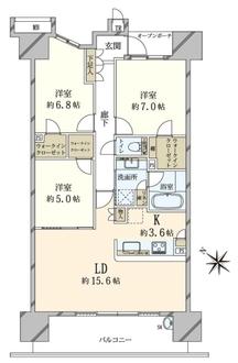 東京フロントコートの間取図