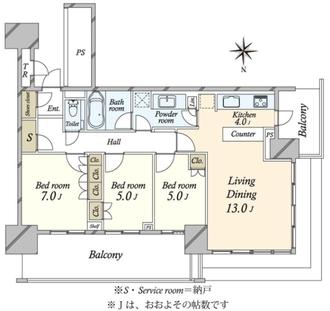 ベイズ タワーガーデン BAYZ TOWERGARDENの間取図