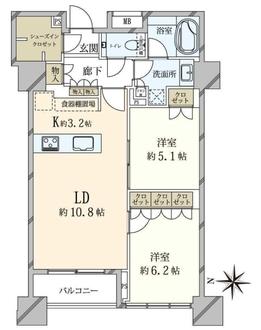 ザ 湾岸タワー レックスガーデンの間取図