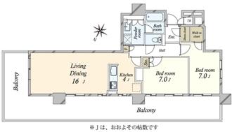 Brillia有明City Tower ブリリア有明シティタワーの間取図