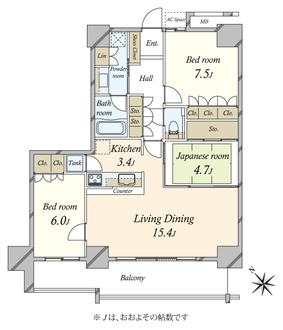 BEACON Tower Residence ビーコンタワー の間取図