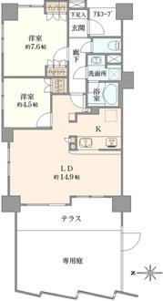 ナイスパークフロンテージ新川崎の間取図