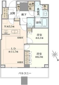 パークタワー新川崎の間取図