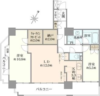 イクス川崎ザ・タワーの間取図