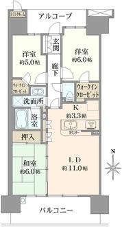 フォレシアムコンフォートタワー C棟の間取図