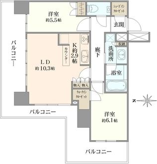 クレッセント川崎タワーの間取図