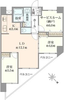 アルコード川崎デュアルの間取図