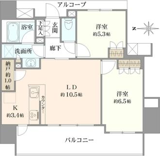ザ・パークハウス川崎の間取図
