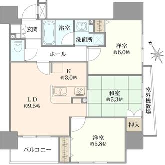 レクシオ川崎桜川公園の間取図
