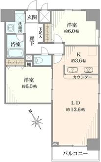 セザールプラザ川崎の間取図