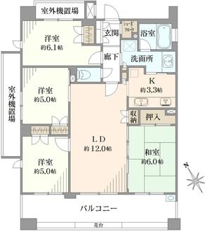 アデニウム川崎桜川公園の間取図