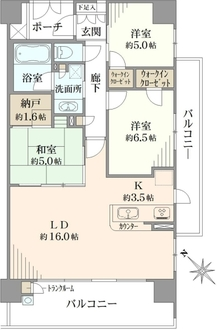 川崎サイトシティ II番館の間取図