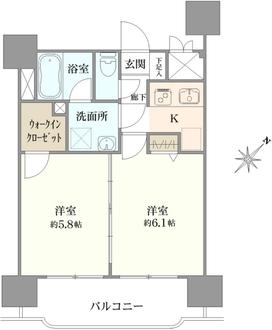 グリフィン横浜・ベイグランデ弐番館の間取図