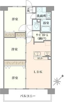 クリオ川崎参番館の間取図