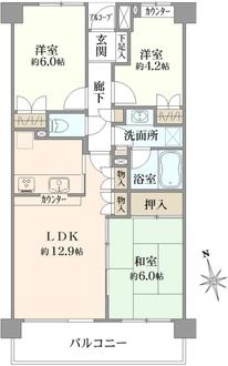 武蔵中原パーク・ホームズの間取図
