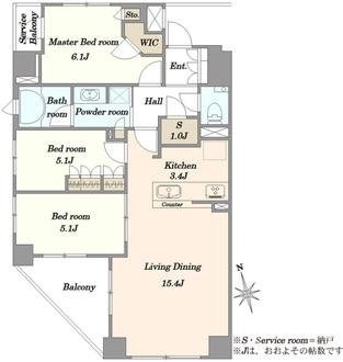 ウィルローズセンター南ソレアの間取図