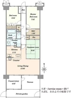 グレーシアガーデンたまプラーザD棟の間取図