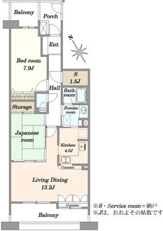 エステガーデンセンター北センタースクエアの間取図
