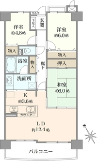 ローレルコート茨木西館の間取図