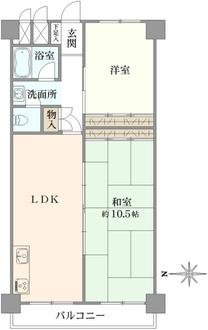 マンション南茨木の間取図