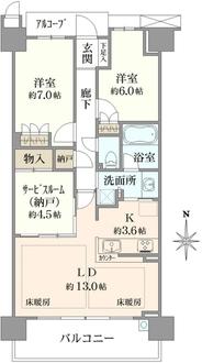 プラウドシティ茨木Avenue Courtの間取図