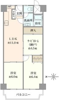 ローレルハイツ茨木総持寺1号棟の間取図