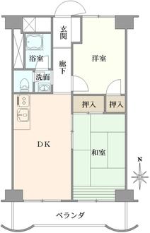 グリーンタウン茨木 八番館の間取図