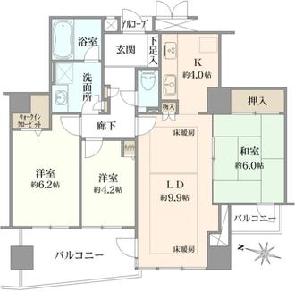 メロディーハイム香里ケ丘ツインビューベガタワーの間取図