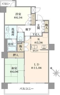 ビラカーサ三田の間取図