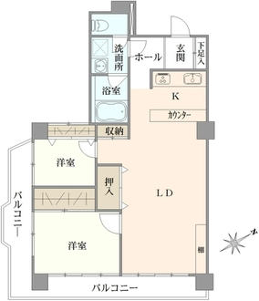 ソレール仙台坂の間取図