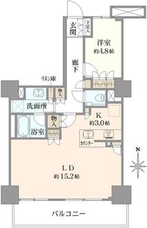 プライムパークス品川シーサイド ザ・タワーの間取図