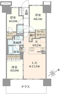 プライムパークス品川シーサイド ザ・レジデンスの間取図