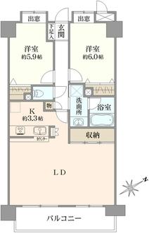 ライオンズガーデンシティ平井の間取図