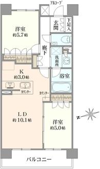 プレミスト高円寺の間取図